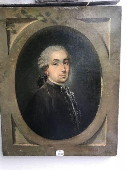 Six tableaux dont un portrait d'homme