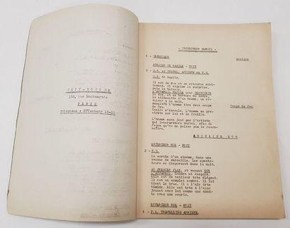 Découpage Technique - INSPECTEUR SERGIL - 1946