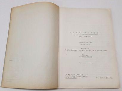 Scénario - PEAU D'UN AUTRE (la) - 1936