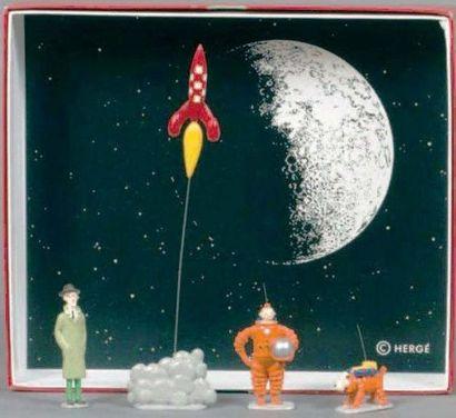 PIXI 4591. Objectif Lune. Série intermédiaire. Tintin, Milou, Baxter et la fusée...
