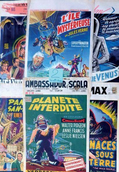 Lot de 50 affiches belges des années 50-70...