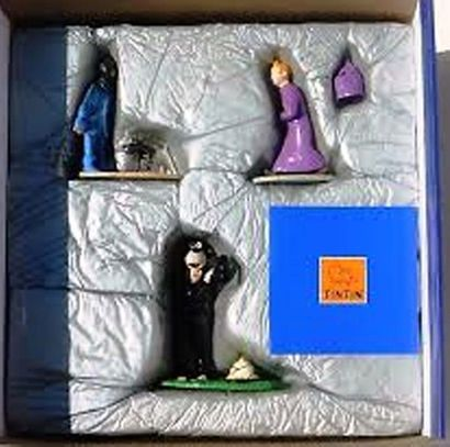 PIXI. 46220 Tintin Trio. Moulinsart, collection Expression. Coffret bleu de 3 figurines...