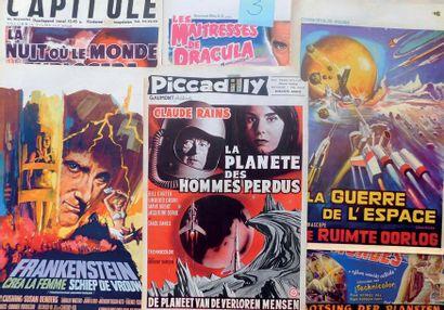 Lot de 55 affiches belges des années 50/60...