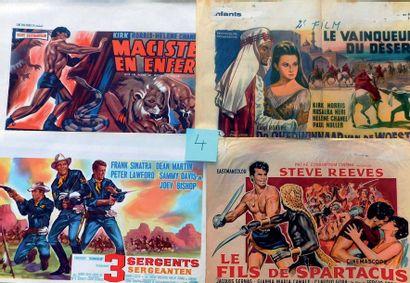 Lot de 30 affiches belges des années 70/80...