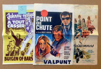 Trois affiches avec Johnny Hallyday. A tout...