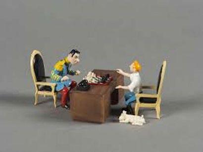 PIXI 4571. La Partie d'Echecs de Tintin et...