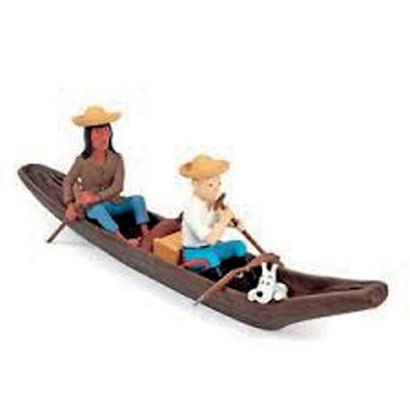 PIXI 46956. Tintin et l'indien en pirogue....