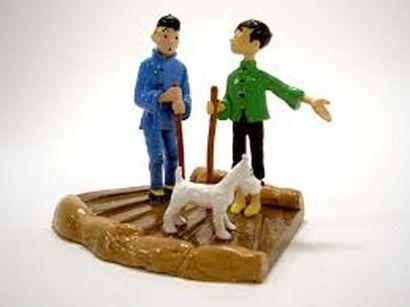 PIXI 46218. Tintin et Tchang traversent le...