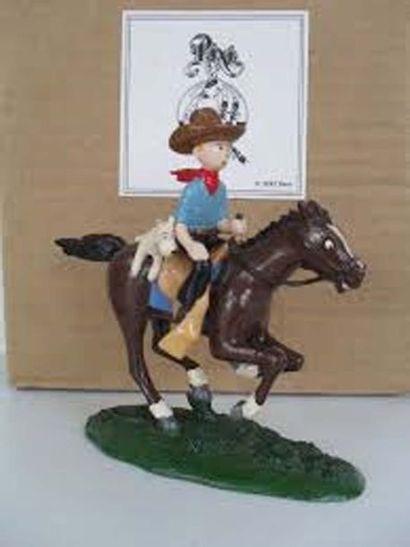 PIXI 4543. Tintin cow boy et Milou cheval....