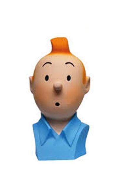 PIXI 46968. Buste Tintin. Socle bleue. Buste...