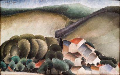 Suzanne ROGER (1899-1986) Le Village, 1922 Huile sur toile Signée en haut à gauche...