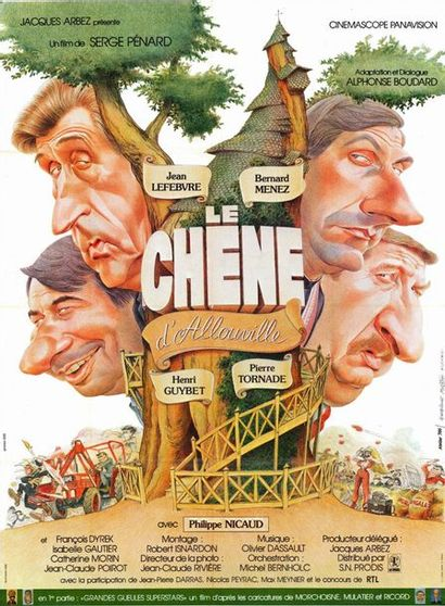 7 ex. - CHENE D'ALLOUVILLE (le) - 1980 Affiche originale Française, 120x160cm - 7...