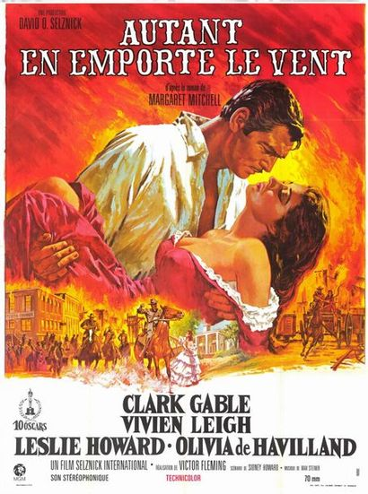 5 ex. - GONE WITH THE WIND - 1939