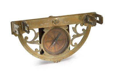 Graphomètre à pinnule en bronze et laiton,...