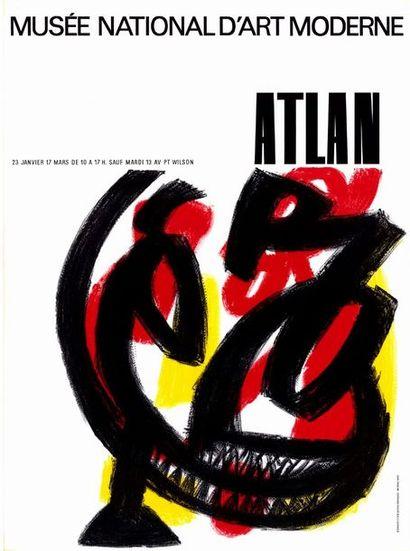 ATLAN 2 exemplaires - Musée National d'Art Moderne Affiche originale française en...