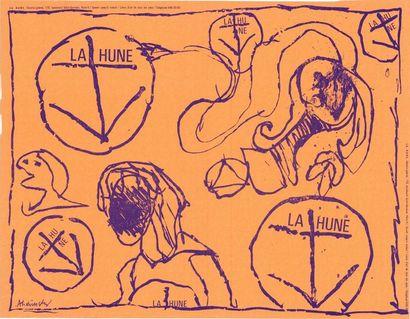 ALECHINSKY La Hune - Affiche originale française en lithographie - 65x50cm, bon état,...
