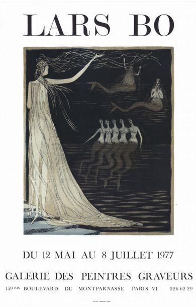 LARS BO - 1977 Galerie de Peintres Graveurs - Affiche originale française en lithographie...