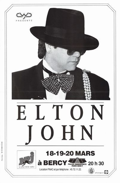 3ex. - Elton JOHN à BERCY