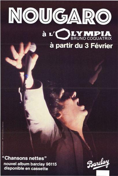 2 ex. - Claude NOUGARO à L'OLYMPIA