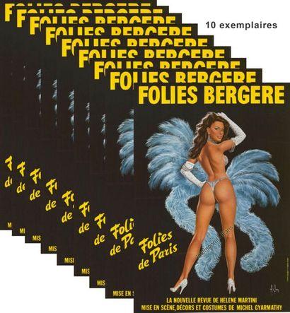 10 ex. - FOLIES BERGERES par ASLAN