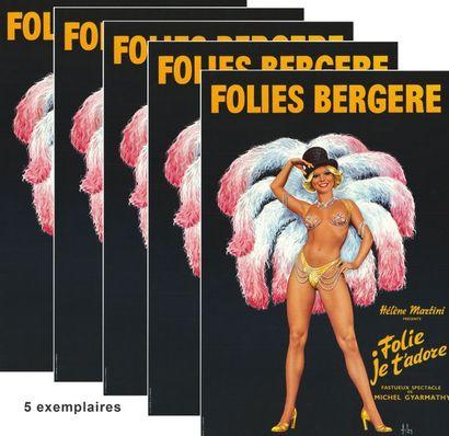 5 ex. - FOLIES BERGERES par ASLAN