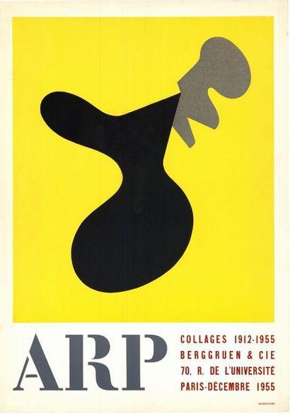 JEAN ARP - 1955 Berggruen et Cie - Collages 1912-1955 - Affiche originale française...