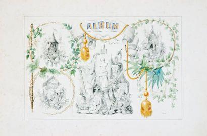 Album dit Amicorum comprenant 17 dessins...