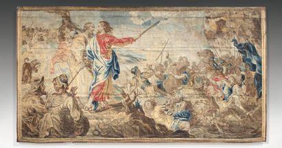 Importante et fine tapisserie des Flandres,...