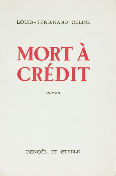 MORT A CREDIT, Denoël et Steele, Paris, 1936,...