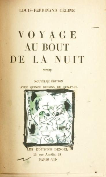 VOYAGE AU BOUT DE LA NUIT. Edition de 1942....