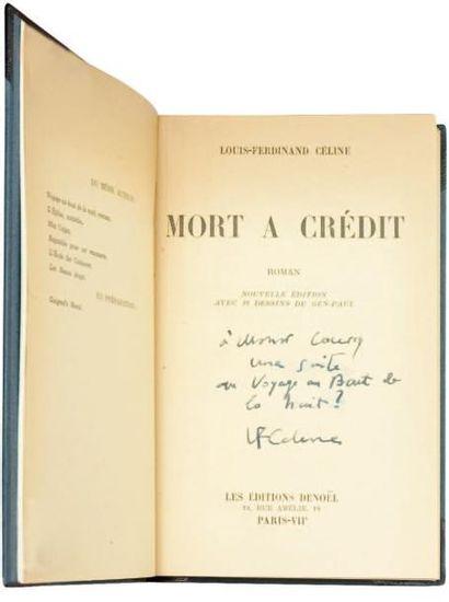 MORT A CREDIT. Edition de 1942 illustré par...