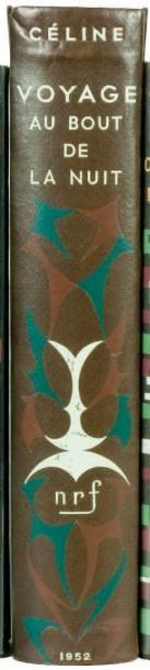 VOYAGE AU BOUT DE LA NUIT, Paris, Gallimard,...