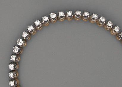 Bracelet rivière de diamants, en or