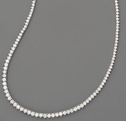 Collier rivière de diamants brillantés (9...