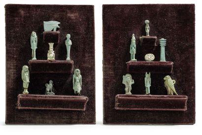 Lot d'amulettes Egypte, Basse Époque On y...