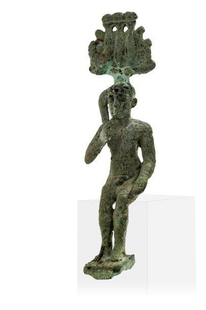Statuette d'Harpocrate en bronze Egypte,...