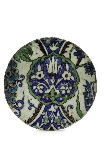 Partie de carreau en céramique de Damas,...