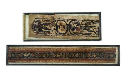 Lot de textiles Coptes et islamiques
