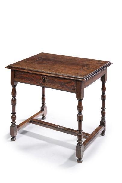 Table à écrire en bois naturel ouvrant par...