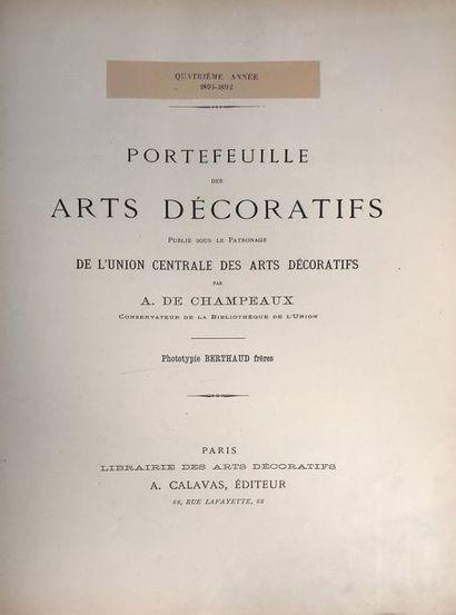 (ARTS DECORATIFS) Portefeuille des arts décoratifs....