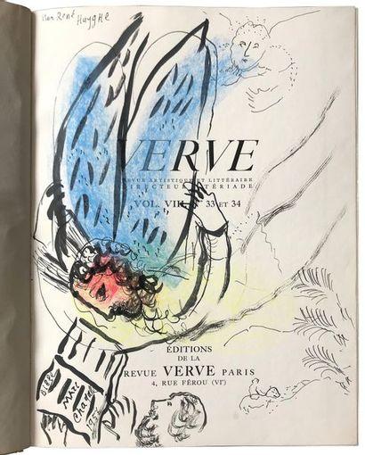 (CHAGALL Marc) Dessins pour la Bible. Verve vol. VIII. Ed. Verve Paris 1956. Exceptionnel...