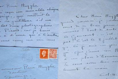 COLETTE 2 L.A.S. à René Huyghe. 1 p. ¼ in-4...