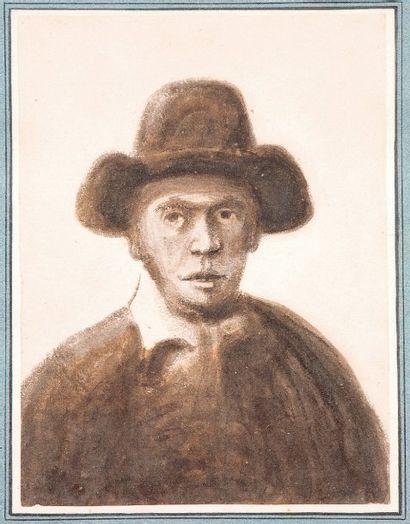 ECOLE HOLLANDAISE du XVIIème siècle Portrait...