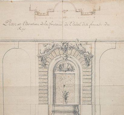 Attribué à Jacques GABRIEL (1667 - 1742)