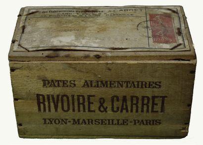 RIVOIRE & CARRET Très rare boîte en bois...