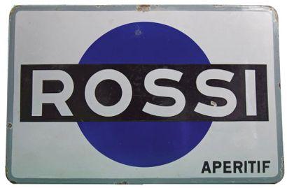 ROSSI Plaque émaillée pour l'apéritif italien...