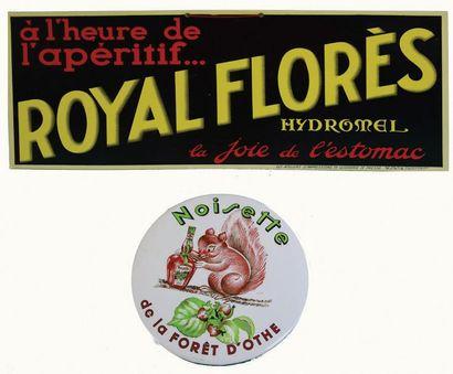 ROYAL FLORÈS Carton publicitaire pour l'apéritif...