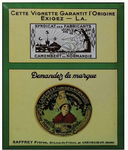SAFFREY Magnifique glaçoïde pour les camemberts...