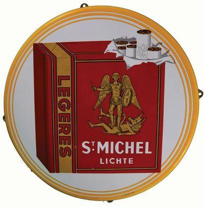 SAINT-MICHEL Plaque émaillée pour les cigarettes...