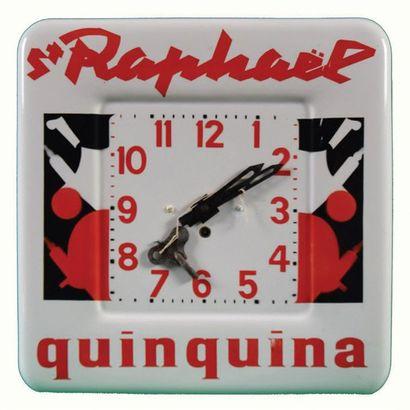 SAINT-RAPHAËL Horloge émaillée pour l'apéritif...